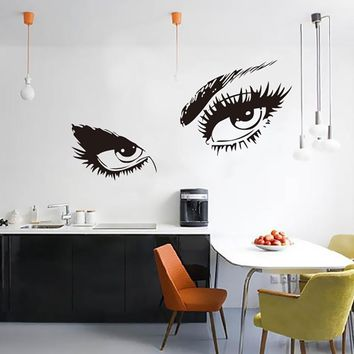 Audrey Hepburn Sexy Eyes Wall Decal Vinyl Stickers