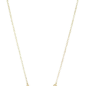 Personalized Initial Gold Bar Necklace
