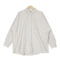 Basic Checkered Dolman Sleeved Shirt