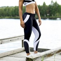 Women's Fashion Winter Slim Gym Yoga Geometric Pants