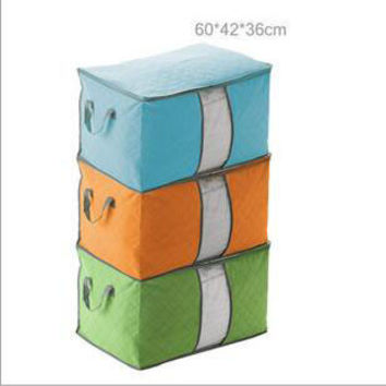 Hot sell Big size 4Colors Foldable Clothing Organizer Clothing quilt Storage Box for Blanket Pillow Underbed Bedding
