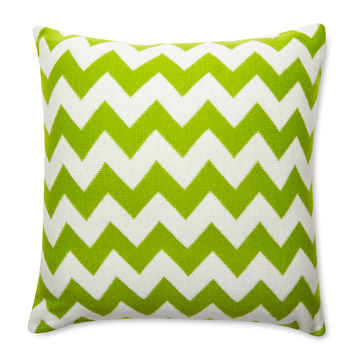 Amity Home Chevron Pillow - Green