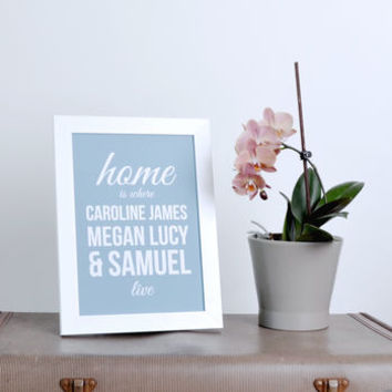 'Home Is Where We Live' Print