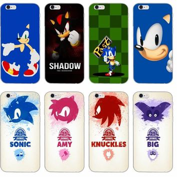 Sonic the Hedgehog silicone TPU Soft phone case For Samsung Galaxy S3 S4 S5 S6 S7 edge S8 Plus mini Note 3 4 5