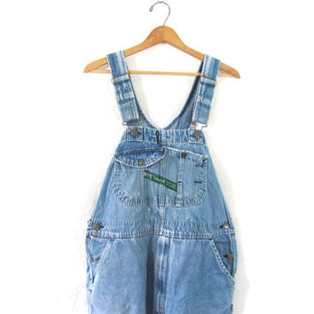 20% OFF SALE... Vintage distressed and faded Jean Bib Overalls. Key Carpenter Engineer Work Pants.