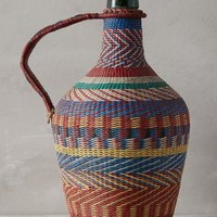 Woven Wine Jug by Anthropologie Assorted One Size Decor
