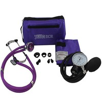 Purple Color Aneroid Sphygmomanometer with Stethoscope