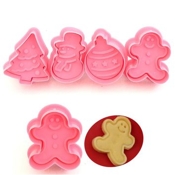 High Quality Christmas Snowflake Cookies Gingerbread Mold Cake Fudge Bakeware DIY Christmas Party Kitchen Accessories  M3