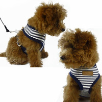 New Style Adjustable Dog Harness Soft Breathable Cloth Dog Chest Strap Leash Set Collar Comfortable Vest Traction Rope XS-XL