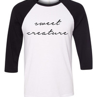 "Harry Styles ""Sweet Creature"" Baseball Tee"