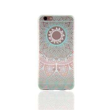 Mint Lace Sunflower iPhone 7 7Plus & iPhone 6s 6 Plus & iPhone X 8 Plus Case with Gift Box