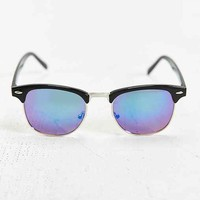 Black Flash Round Sunglasses