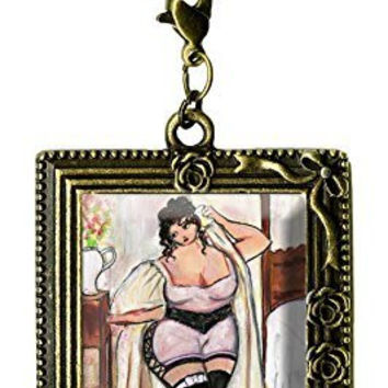 Curvy Girl Romantic Bedroom Chic Antique Bronze Gold Huge Oversize Multi Use Clip Charm Pendant