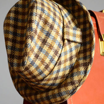 Vintage Plaid Fedora Hat