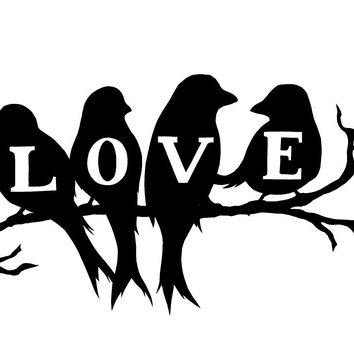 Love Birds  Vinyl Car/Laptop/Window/Wall Decal