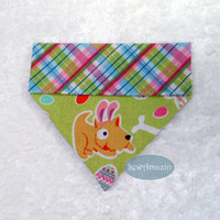 Easter Puppies Over-the-Collar Dog Bandana, Easter Dog Bandana