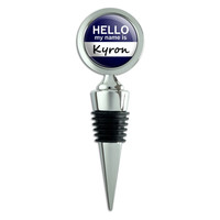 Kyron Hello My Name Is Wine Bottle Stopper