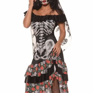 Fashion New Queen of the Dead Halloween Party Cosplay Costume 2016 Fantasy Game Uniforms For  Women LC89007