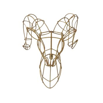 Gold Ram Wire Wall Décor