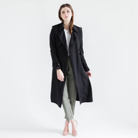 Boyfriend Trench Coat (Black)