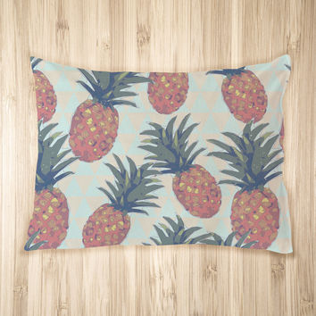 Low Poly Pineapples Pet Bed