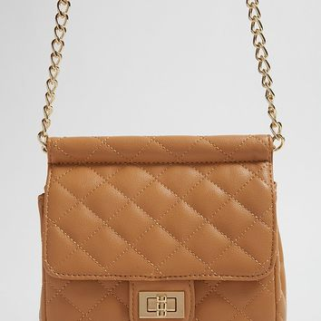 Quilted Flap-Top Crossbody Bag