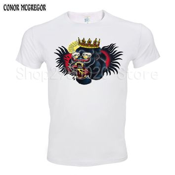 Conor Mcgregor men's T-Shirt Summer fashion High Quality wrestling t shirt casual white print male top tees