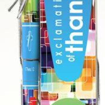 """Pen & Bookmark Set """"Exclamations of Thanks!"""" Theme"""