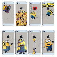 2016 New Fashion Super Hot Despicable Me Yellow Minion Design Case Cover For Apple iPhone 5 5S SE Free Shipping