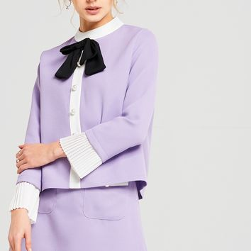 Jane Lavender Bow Tie Two Piece Suit Discover the latest fashion trends online at storets.com