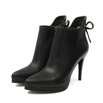Thin Heel Ankle Boots For Women