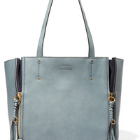 Chloé - Milo suede-trimmed leather tote