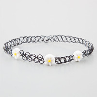 Daisy Tattoo Choker Black One Size For Women 25928910001
