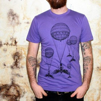 Steampunk Hot Air Balloon Insect Purple by darkcycleclothing