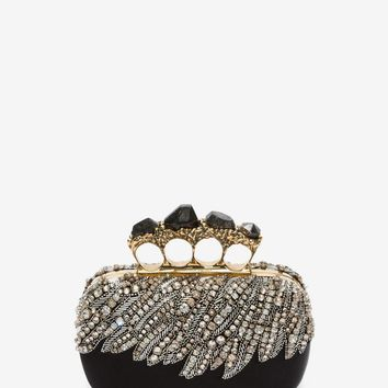 Stone Knuckle Short Box Clutch | Alexander McQueen