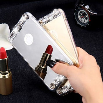 Luxury Glitter Diamond Mirror Case