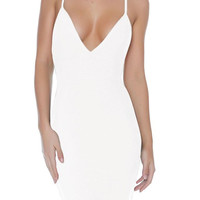 """Paris"" Bandage Dress - White"