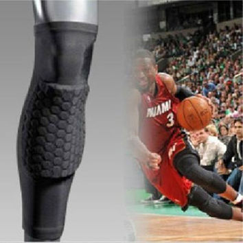 Professional Breathable Sports Men Honeycomb Long Knee Support Brace Pad Protector DURABLE FREE SHIPPING!