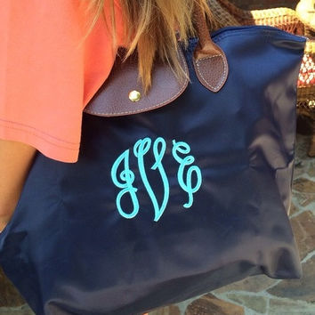Monogram Longchamp Inspired tote