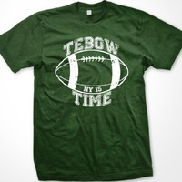 Tebow Time Mens T-shirt, Tim Tebow NY Football Men's Tee Shirt