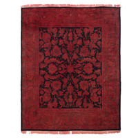 Antique Overdyed Red Rug - 8' x 9'10""