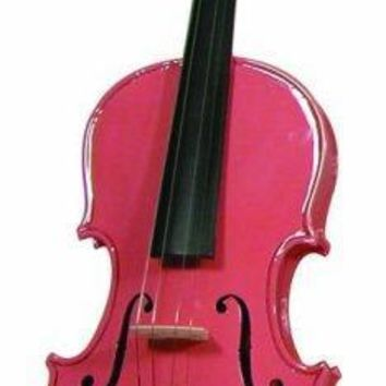 Merano Promo Quality Violin 4-4 Hot Pink