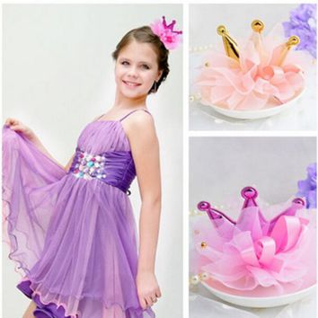 1piece Retail Kids Girl Styling Tools Crown Hair Clips Princess Hairpins Bow Headbands For Party accessories