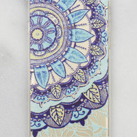 Aqua Flower iPhone Case