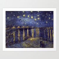 Vincent Van Gogh Starry Night Over The Rhone Art Print by Art Gallery