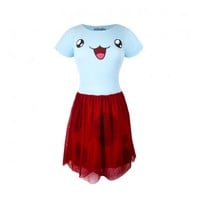 I am Catbug Fit & Flare Tulle Dress