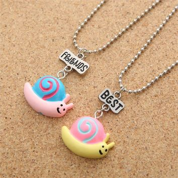 snails pendant necklace jewelry children friendship gifts birthday girl love choker charm handmade necklace  7623