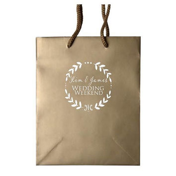 35 Personalized Gift Bags for Hotel Wedding Guests