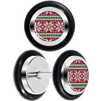 Red Green Christmas Sweater Cheater Plug Set