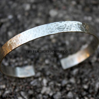 Sterling Silver Cuff Bracelet - Hammered Cuff - Silver Cuff - Silver Bracelet - Sterling Silver Jewelry - Gift For Her - Artisan Jewelry